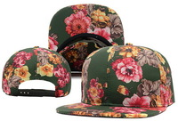 Brand Blank Floral Snapback Hats for girl classic men and women's design flower snapback caps fashion baseball hip hop sun hat