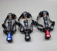 BORUIT Cree XM-L T6 1800-2000 Lumens LED Headlamp  3-Mode Zoomable  Headlight Flashlight Head Lamp Light by AA battery