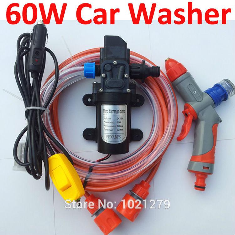 FREE SHIPPING new Car electric 60w high pressure car washer portable high pressure car wash pump 12v trainborn (880099)(China (Mainland))