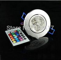 85-265V  3W  RGB LED Bulb Light Lamp Ceiling Light  full color Bulb