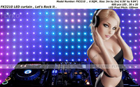 Free shipping 2*3M P100mm LED Video Curtain ,soft, flexible, foldable