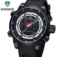 2014 WEIDE Luxury Brand Men's Quartz Full Steel Military Army Watches Male Sports Outdoor Swim Watch LCD Backlight Wristwatch