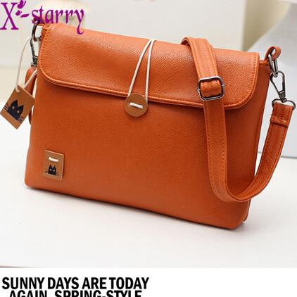 X-starry 2015 Fashion Women Leather Handbags Retro women Messenger Bags Envelope day clutch shoulder bag HL4156(China (Mainland))