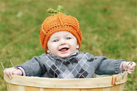 2014 Hot Sale Fashion Hand Knitting Cartoon  lovely pumpkin Baby Woolen Hat