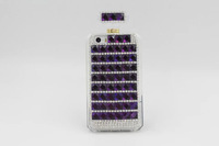 2014 DIY new hot sale Luxury Jelly drill phone case Rhinestone TPU Perfume Bottle phone case cover for iphone 4 4s 5 5C 5s