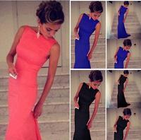 2015 New Elegant Black Lace Dress High Waist Evening Party vestido de festa Floor-length Long Maxi Women Casual Dress 4