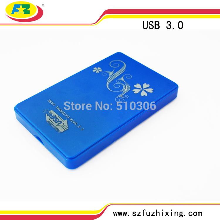 """Free Shipping Plastic HDD Case 2.5"""" SATA External Hard Drive HD Box Caddy USB3.0 Serial ATA Enclosure 1TB(China (Mainland))"""