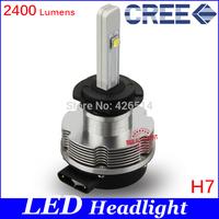 NEW, 20W H7 LED Headlight Conversion Kits 2400Lm CREE Chip White LED For Car Fog Light HeadLamp