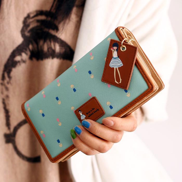 Fashion New 2015 brand long women wallets leather purse desigual bags woman clutch purses colete de pele kip wallet lambskin bag(China (Mainland))