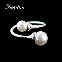 Aneis Vintage Silver Color Alloy Wedding Simulated Pearl Rings New 2014 Romantic Designer Jewelry Weekend Deals