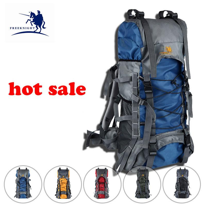 60l professional grand sac à dos randonnée sac à dos sac à dos de camping en plein air escalade sac d'alpinisme hommes, femmes sac de montagne