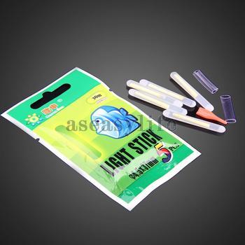 Бесплатная доставка продажа 50 шт. рыбалка флуоресцентный свет с плавающей точкой свечение Lightstick 4.5 * 37 мм ASAF