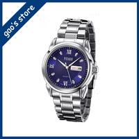 Steel belt calendar watch waterproof quality goods edition men's watch luminous week business belt quartz watch men watch men