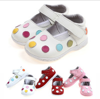 Hot Brand kids shoes baby prewalker shoes first walkers baby shoes Wearproof Antislip Genuine Leather sandals for girls SQ0052