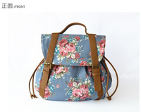 New Arrivals Hot sale flowers Floral Printed Canvas Backpack College New Fashion Girls' School Bag Flowers Women Rucksack