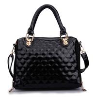 woman bags fashion 2014 designers bolsa de ombro solid black bag luxury tote bag transparent bag designer handbags high quality