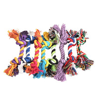 V1NF Fashion Cute Pastel Knot Cotton Rope Bone Chew Tug Toy for Pet Doggy dog EMS DHL Free Shipping Mail