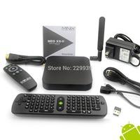 MINIX NEO X8-H X8 H X8H 4K Android Smart  TV Box Quad Core Amlogic S802-H 2GB 16GB XBMC Kitkat 4.4 + MEASY RC11   Airmouse