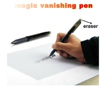 Free Shipping Fire-roasted Erasable Pen Magic Auto Vanishing Disappearing Ink Pen Invisible Ink Sign Pen Stationery - Black