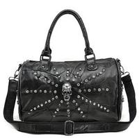 New Fashion Women Retro Designer Handbag Genuine Leather handbags Rhinestone Skulls Portable Shoulder Bag female Tote AT001
