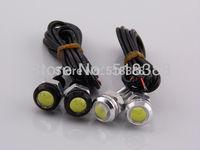 2pcs High power car lighting light 1.5W 18mm eagle eye led daytime running lights 12v car bulbs brake lamp tail led car