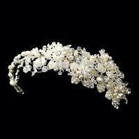Free shipping! New Design Pearl Flower Bridal Headpiece Wedding Headband head tiara Handmade