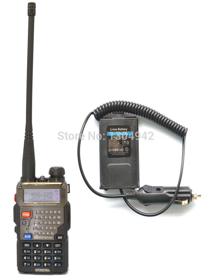 Radio sets New Black BAOFENG UV-5RE+PLUS VHF/UHF Dual Band ham two way Radio amateur walkie talkie +Original Battery Eliminator(China (Mainland))