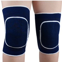 1 pair New Sponge Knee Wrap Support Brace Football Basketball Athletic Sport Knee Protection Pad Elastic 2 Color For Choose