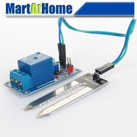 Free Shipping 12V Soil Moisture Sensor Controller Module Automatic Watering with Relay Module #BV267 @CF