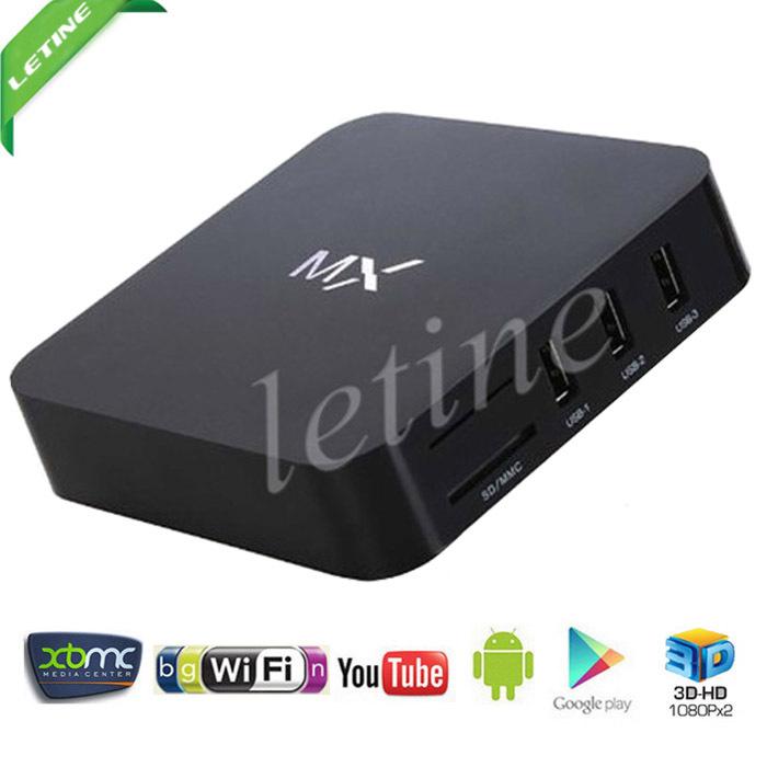 Caixa de TV XBMC mx Android Amlogic 8726 -MX Dual core 1.5GHz Mali -400 GPU 1GB + 8GB caixa de tv mx meia-noite(China (Mainland))