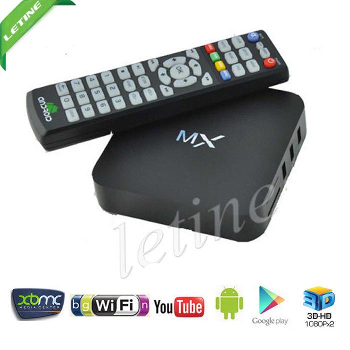 MX TV Box Android 4.2.2 Dual Core XBMC 1G RAM 8G ROM da meia-noite dupla ARM Cortex A9 WiFi construir Em Mini PC Frete Grátis(China (Mainland))