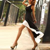 Women Summer Dress 2014 Vestido De Festa Swallow Tail Solid Sexy Backless Bodycon Evening Maxi Long Dresses Free Shipping WQW451