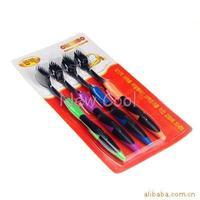 wholesale retail drop Korea nano bamboo Anion Charcoal health dual adult toothbrush high quality 4pcs/lot free shipping