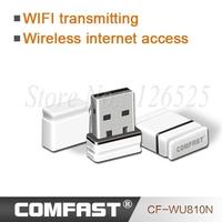 Free drop shipping Mini USB  RTL 8188EUS wifi signal receiver/emitter high power wireless Networking  Lan Card Comfast CF-WU810N