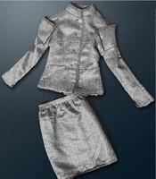 H&Q 2015 new runway brand autumn &winter fashion tweed woolen tops+ print skirts twinset clothing set skirt suits S,M,L,XL