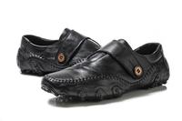 Fashion Men Shoes Genuine Leather Men Flats 2013 Autumn Businessman Leather Shoes Men Loafers Free shipping