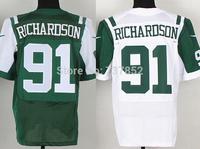 Cheap New York #91 Sheldon Richardson Jersey Team Green White Elite Stitched NY American Football Jerseys Free Shipping Dropping