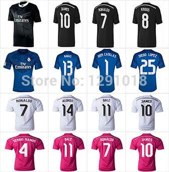 Hernandez cross JAMES 14 / 15 Real Madrid Real Madrid shirt Black Dragon 20151415 Bale Ronaldo Ramos Real Madrid soccer jersey(China (Mainland))