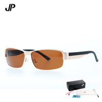 Free shipping Retail Al-Mg Alloy sunglasses Ultralight Polarized Blue Coating sunglasses men glasses with case 4colors