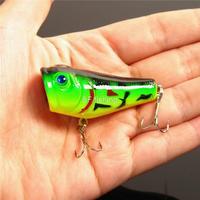 "SF 3D eyes Plastic Popper Fishing Hard Lures Bass Crank Bait Tackle 5cm 2""/8g"