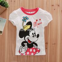 New 2014 wholesale 5pcs/1lot Children's T-shirt, 100%cotton Children's cartoon short sleeve t shirt,Minnie t-shirts,kids clothes