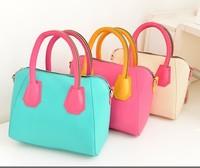 Hot Selling Fashion Cylindrical Hit Color Women Handbag Casual Women Shoulder Bag Tote Vintage Messenger Bag FREE SHIPPING