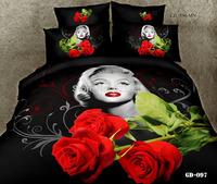 (Luxury 7PCS/ SET ) 3D Oil Painting Beddings(comforter Cover+Flalt Sheet+Fitted Sheet+Pillowe cases)