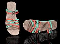 Freeshipping 2014 New Arrival Korean Style  fresh and lovely  female flat open toe sandals