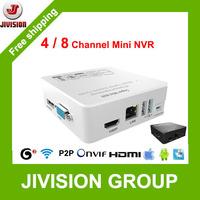 ONVIF 4ch/8ch Super Mini NVR 3G WIFI Network Video Recorder 720P/1080P HDMI 1080P Output 4 CHANNEL NVR 8 CHANNEL mini portable