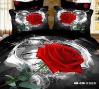 (Super King 7PCS/ SET ) 3D King Size Comforter Cover(comforter Cover+Flalt Sheet+Fitted Sheet+Pillowe cases)
