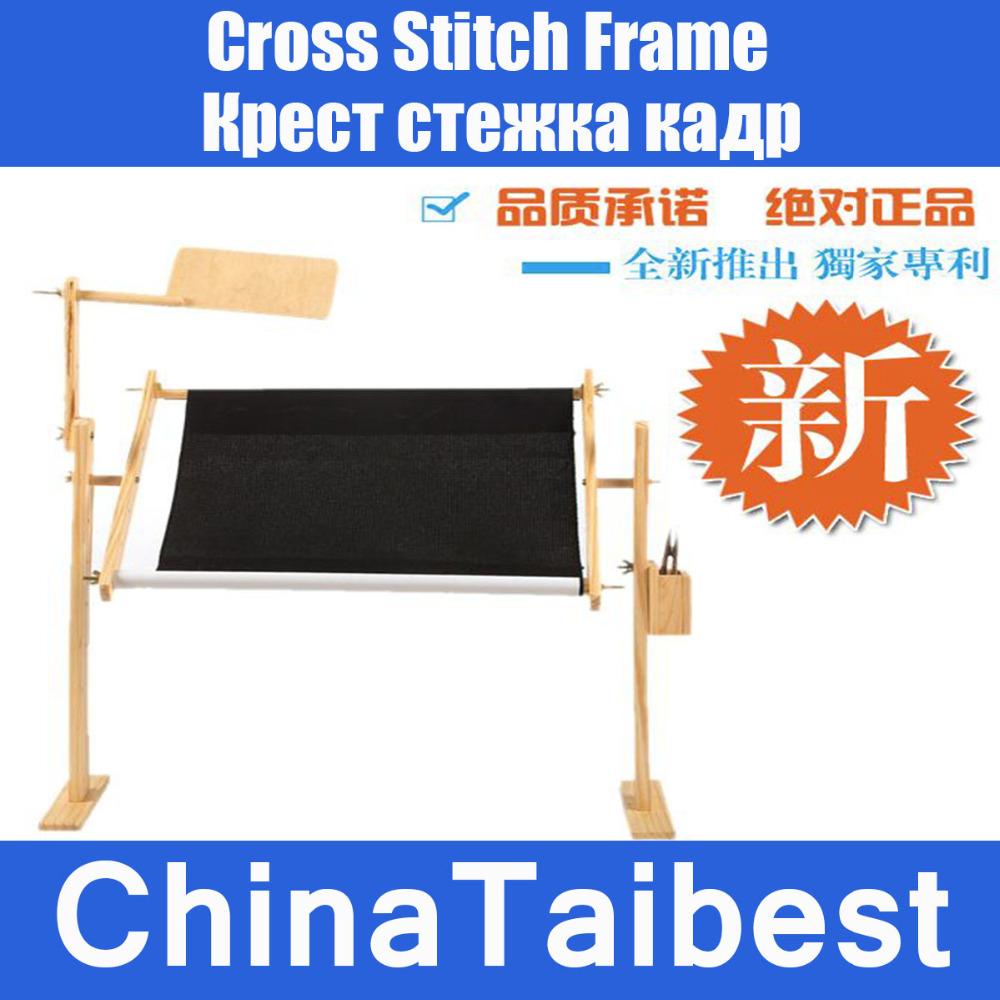 Cross Stitch Frames Embroidered Desk Adjustable Practical Wood Kits Set(China (Mainland))