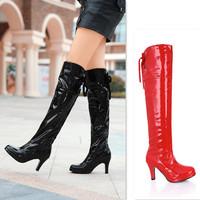 Women Boots High Heel Platform Long Boots For Bdsm Galochas Femininas Sexy Boot Salto Alto Gladiator Fetish Bdsm 47 48 Free Ship