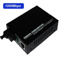 High Quality 1000Mbps Gigabit Ethernet to single mode fiber converter,-SC, for million HD camera,Anti-lightning!