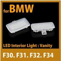 Free Shipping for BMW F30 F31 F32 F34 F20 F21 F06 F12 F13 Error Free LED Vanity Mirror Light